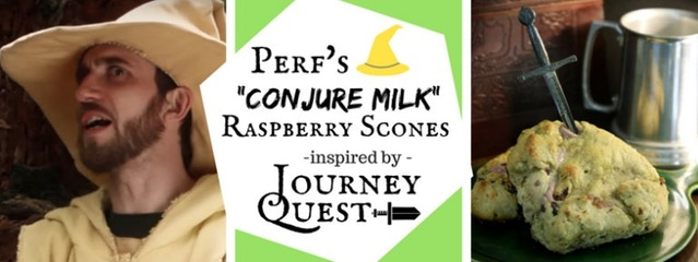 "Perf's ""Conjure Milk"" Raspberry Scones inspired by JourneyQuest"